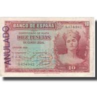 Billet, Espagne, 10 Pesetas, 1935, 1935, KM:86a, TTB - [ 2] 1931-1936 : République
