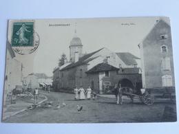 Baudoncourt Cpa 1908 Animee ...chariot Avec Cheval - Sonstige Gemeinden