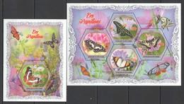 V1190 2018 COTE D'IVOIRE FLORA & FAUNA BUTTERFLIES PRIVATE ISSUE 1KB+1BL MNH - Schmetterlinge