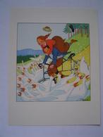 PLANCHE LITHO : LE TANDEM DANS LES OIES / Illustration JEAN DROIT - Old Paper
