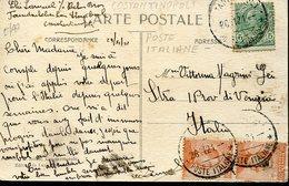 37003 Italia,poste Italiane Post Office Costantinopoli Costantinople 26.11.1921, Card To Italy (see 2 Scans) - Bureaux Etrangers
