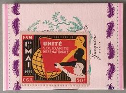 Vignette 1er Mai. CGT. Collée Sur Un Calendrier. Jacquin Chocolatier Confiseur. 1954. 8 Pages. - Otros