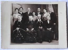 Photographie Famille Lorient 15 Rue Paul Guieysse Le Guerne Coiffe Bretonne Costume Photographe J. Le Lamer Guéméné - Personnes Identifiées