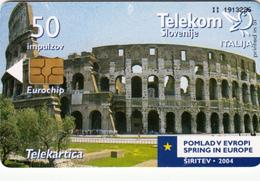 SLOVENIA SLOVENIJA PHONECARD 2004 ITALIJA ITALY  POMLAD V EVROPI SPRING IN EUROPE TELEKOM CAT.NO. 566 - Slovenia
