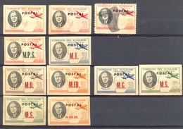 Equateur - 1949 - Lot Timbres Officiels Et P.A. Officiels - Obl.  -  Nºs Dans Description Ci-dessous - Ecuador