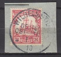 DUITSE KOLONIEN - OOST-AFRIKA  1905  Michel   32  WILHELMSTHAL   , See  Scan ,used/VF   [DK  421  ] - Colonie: Afrique Orientale