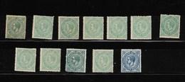 España. Conjunto De 11 Sellos Nuevos Del Nº 183 Y Un 184 - 1875-1882 Reino: Alfonso XII