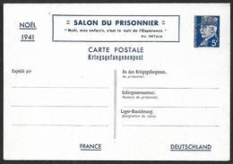 ENTIER 1941 - 515 -CP - Pétain - Salon Du Prisonnier - Etat  2 - Cote 40e - Postales Tipos Y (antes De 1995)