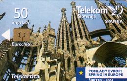SLOVENIA SLOVENIJA PHONECARD 2004 ŠPANIJA SPAIN  POMLAD V EVROPI SPRING IN EUROPE TELEKOM CAT.NO. 569 - Slovénie
