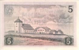 ICELAND P. 37b 5 K 1957 UNC - Islande