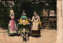 1 Postcard  Dogchart  Hondenkar Attelage De Chien OOSTENDE  Laitières  Uitg. Le Bon Oostende   1913 - Venters