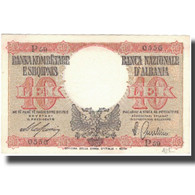 Billet, Albania, 10 Lek, Undated (1940), KM:11, SPL+ - Albanie