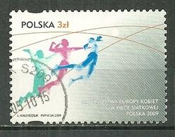 POLAND Oblitéré 4176 Championnat Européen Féminin De Volley Ball - 1944-.... Republik