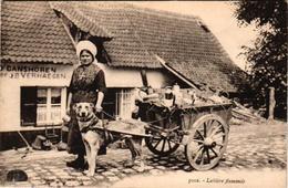 1 Postcard  Dogchart  Hondenkar Attelage De Chien Bruges BRUGGE  Herberg In't Oud Ganshoren  1923 - Marchands Ambulants