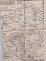 CS / ALLEMAGNE . EISENBAHNKARTE Storms Kursbuch Winter 1907- 08 Carte Réseau Ferroviaire 49x58 + Plans Villes Allemandes - Europe