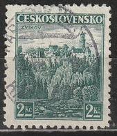 Cecoslovacchia 1936 Zvíkov Castle - Castelli | Foreste | Paesaggi - Usati