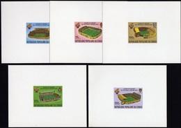 Soccer Football Fussball Congo Luxes 736/40 Cardboard 1982 World Cup Spain MNH ** - World Cup