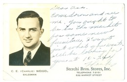1936, USA, Chattanooga, Sterchi Bros Stores Advertising Pc, Used. - Advertising