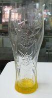 AC -  LIPTON ICE TEA BOTTOM ORANGE COLORED GLASS - Glasses