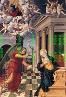 Spoleto - Santino Cartolina ANNUNCIAZIONE (G. Andrea De Magistris Da Caldarola, 1543) Museo Diocesano - PERFETTO P68 - Religione & Esoterismo