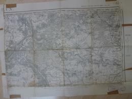 Carte Topographique Melun 77 Seine Et Marne Type 1889 Juin 1940 - Topographical Maps