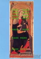 Spoleto - Santino Cartolina MADONNA CON BAMBINO (Primo Maestro Di S. Chiara Da Montefalco, 1315) - PERFETTO P68 - Religione & Esoterismo