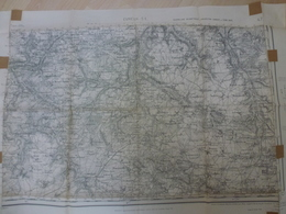 Carte Topographique Evreux 27 Eure  Type 1889 Juin 1945 - Topographical Maps