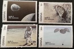 Ghana 1989 1st. Moon Landing ,20th.Anniv. - Ghana (1957-...)