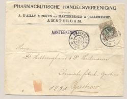 Nederland - 1902 - 22,5 Cent Bontkraag Op Commercial R-cover Van Amsterdam Naar Gustrow / Deutschland - Period 1891-1948 (Wilhelmina)