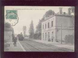 41 Morée Saint Hilaire Arrivée D'un Train édit. ELD N° 18 Chemin De Fer Gare  Animée - Moree