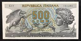 500 Lire Aretusa 20 10 1967 Fds   LOTTO 2166 - [ 2] 1946-… : Repubblica