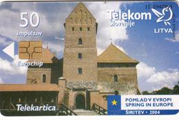 SLOVENIA SLOVENIJA PHONECARD 2004 LITVA LITHUANIA POMLAD V EVROPI SPRING IN EUROPE TELEKOM CAT.NO. 596 - Slovenia