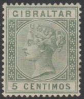 GIBRALTAR - 1889 5c Queen Victoria. Scott 29. Mint - Gibraltar