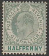 GIBRALTAR - 1903 ½d King Edward. Scott 39. Lovely MNH - Gibraltar