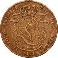 Monnaie, Belgique, Leopold I, 5 Centimes, 1849, TB+, Cuivre, KM:5.1 - 1831-1865: Léopold I.