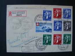 """Schweiz, Luftpostbrief Einschreiben, Swissair-Europaflug West,nach Antwerpen, """"Straat Onbekend"""" Zurück, 1939 - Posta Aerea"""
