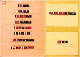 1445 Sammlung Von 29x Bandspangen In Der Ausführung Nach Dem Ordensgesetz Von 1957. Auf Karton Sortiert Und Eingeteilt,  - Army & War