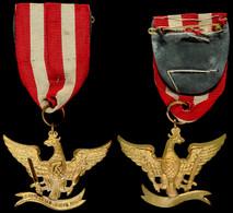 1450 Kavallerie Verein Hamm, Abzeichen, Goldener Adler Nach Links, Am Band, Zustand I-II.  I-II - Army & War