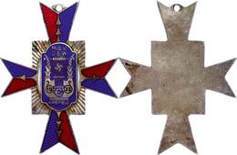 1451 Männer-Gesang-Verein Krefeld, Kreuz 1933, Emailliert, Mit Hakenkreuz, Zustand II.  II - Army & War
