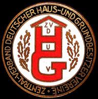 1452 Zentralverband Deutscher Haus- Und Grundbesitzervereine (ZVDHuGV), Mitgliedsabzeichen., Katalog: Hns.2810a I-II - Army & War