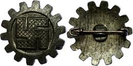 1453 Deutsche Arbeitsfront (DAF), Mitgliedsabzeichen 2. Form, Herstellungsvariante., Katalog: Hns.3001ba I-II - Army & War