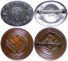1456 Reichsarbeitsdienst Der Weiblichen Jugend (RAD/wJ), Brosche Für Maidenunterführerin, Bronzefarben Und Erinnerungsbr - Army & War