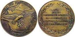 """1498 Feld-Luftgaukommando Westfrankreich, Plakette """"Für Treue Dienstleistungen"""", Nicht Tragbare Ausführung, Hüs. 12.02.3 - Army & War"""