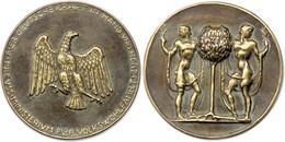1499 Ministerium Für Volkswohlfahrt, Adler Plakette Für Verdienste In Der Jugendpflege, Hüs. 04.18.15, 351 G, 100 Mm, In - Army & War