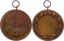 1505 Celler Schützenverein, Bronzemedaille, 1939, Celler Schützenfest, Siegermedaille, Av: Schütze Vor Stadtansicht Und  - Army & War