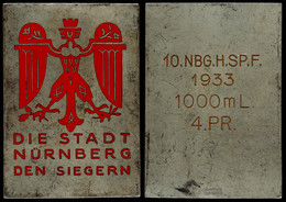 1506 Nürnberg, Siegerplakette, Die Stadt Nürnberg Den Siegern, Rückseitig Graviert 10. NBG.H.SP.F. 1933 1000 M L. 4. PR. - Army & War