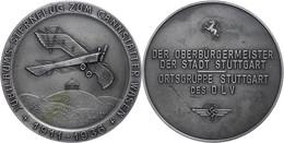 1510 DLV Stuttgart, Medaille Zum Jubiläums-Sternflug Zum Canstatter Wasen 1911-1936 Verliehen Vom Oberbürgermeister, Av: - Army & War