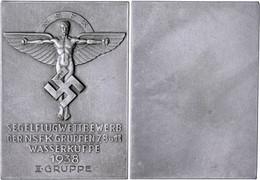 1513 NSFK, Einseitige Plakette, 1938, Segelflugwettbewerb Der NSFK-Gruppen 7, 8 U. 11 Wasserkuppe 1938 II. Gruppe, 64,3  - Army & War