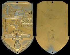 1515 NSKK, Einseitige Plakette, Sauerländische Geländefahrt 2.7.1939, 91,9 G, 96x60 Mm, Lackierung Partiell Nicht Mehr V - Army & War