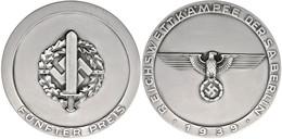 1516 Siegerplakette, Reichswettkämpfe Der SA Berlin 1939, Fünfter Preis, 244 G, 95 Mm, Im Originaletui, Zustand I-II.  I - Army & War